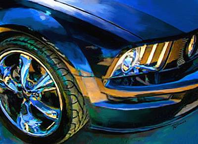 Mustang Art Print by Robert Smith