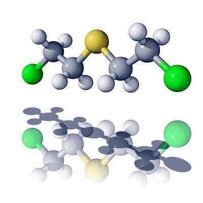 Mustard Gas Molecule Art Print by Laguna Design