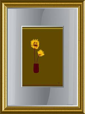 Mustard Vase Print by Ines Garay-Colomba