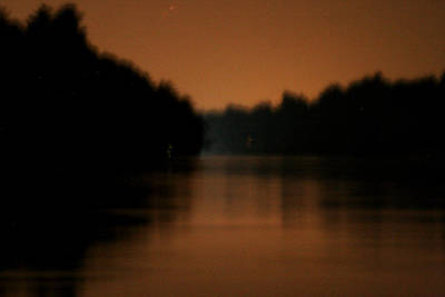 Photograph - Muted River Moon Shine by Artist Orange