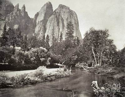 Photograph - Muybridge: Cathedral Rocks by Granger