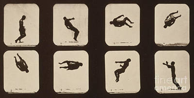 Muybridge Locomotion, Twisting Art Print