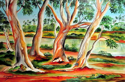 Art Print featuring the painting My Australia Passion by Roberto Gagliardi