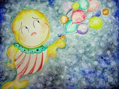 My Baloons Print by Asida Cheng