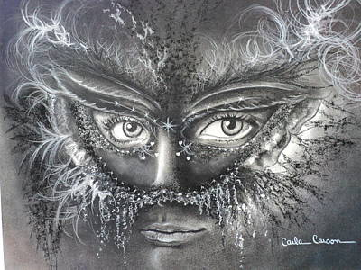 Person Drawing - My Beautiful Nightmare by Carla Carson