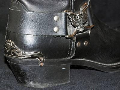 Motorcycle Cowboy Photograph - My Biker Cowboy Boot by Rob Hans