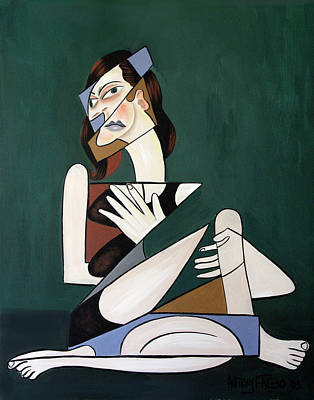 Crying Painting - My Broken Heart by Anthony Falbo