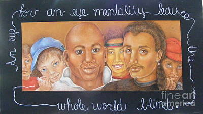Hispanic Drawing - My Brother's Keeper by Jane Jolly Chappell