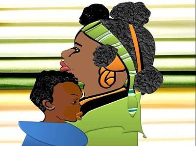 Digital Art - My Child And I by Belinda Threeths