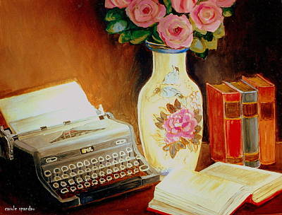 Painting - My Classic Royal Typewriter Memories Of Hemingway   by Carole Spandau