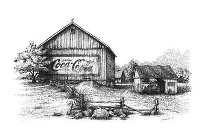 Coca Drawing - My Coke Barn by Daniel Paul Murphy