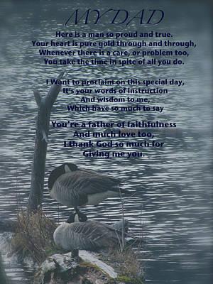 My Dad Poem Art Print by Debra     Vatalaro