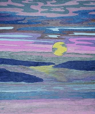 Drawing - Moon Rising by Lesa Weller