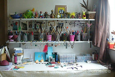 Photograph - My Desk On A Slow Day Brooklyn Alien Art by Kristi L Randall