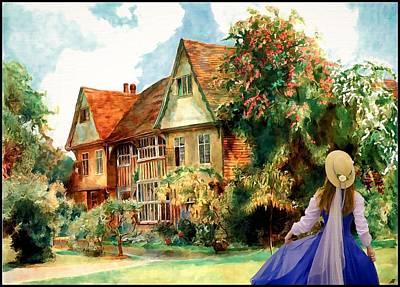 My English Country Garden Art Print