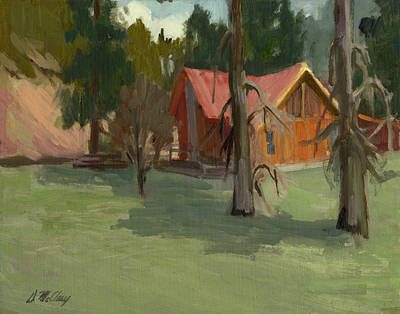 Painting - My Farm by Diane McClary