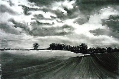 Drawing - My Farm Land by Mickey Raina