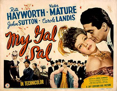 Posth Photograph - My Gal Sal, Rita Hayworth, Phil by Everett