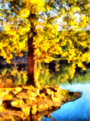 My Golden Tree Art Print by Angelina Vick