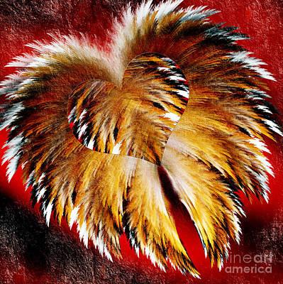 Digital Art - My Heart Has Wings V2 by Andee Design