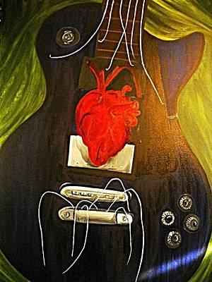 My Heart Is Music Art Print by Cristin Chambers