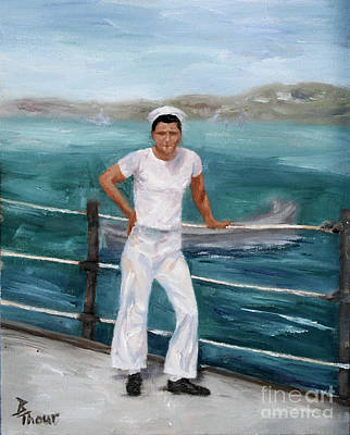 Painting - My Hero The Sailor   by Brenda Thour
