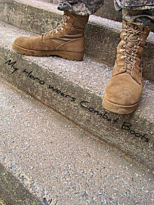 My Hero Wears Combat Boots Original