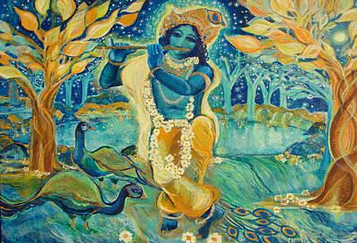 My Krishna Is Blue Art Print