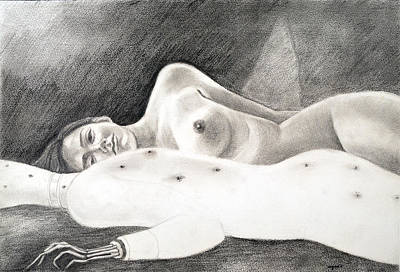 Drawing - My Life 4 - Sleeping With........ by Ayan  Ghoshal
