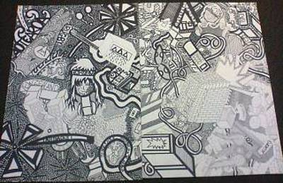 Whare Drawing - My Life My Cubism Piece by Savana Smith