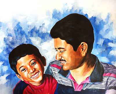 Painting - My Little Master Chotu by Venkat Meruvu