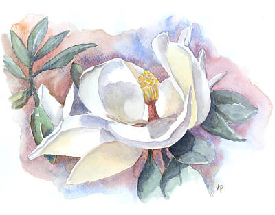 Painting - My Magnolia by Audrey Peaty