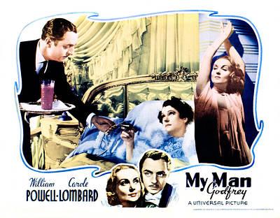 My Bed Photograph - My Man Godfrey, Center William Powell by Everett