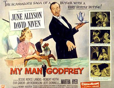My Bed Photograph - My Man Godfrey, June Allyson, David by Everett
