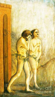 My Masaccio Expulsion Of Adam And Eve Art Print by Jerome Stumphauzer