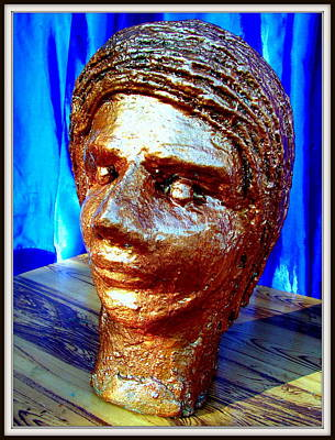 Plaster Of Paris Sculpture - My Model Face by Anand Swaroop Manchiraju