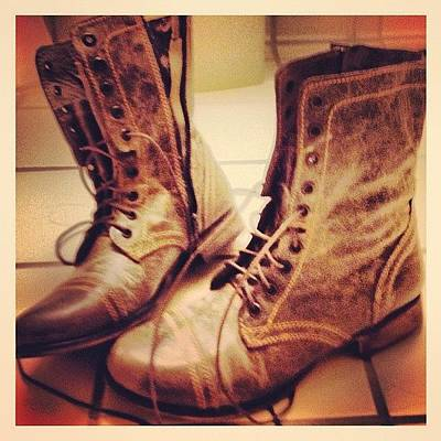 Leather Photograph - My New Boots by Isabel Poulin