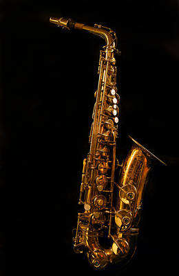 Photograph - Portrait Of My Old Sax by Jean Noren