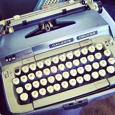 Typewriter Photograph - My Old Typewriter by Jona Shelton
