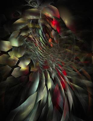 Art Print featuring the digital art My Own Way To Burn by NirvanaBlues
