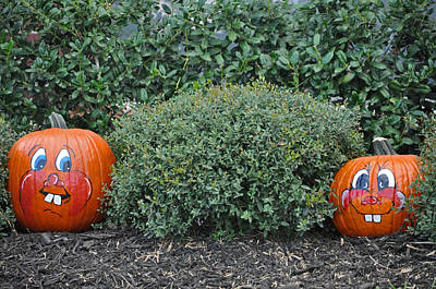Photograph - My Painted Pumpkin 2 by Teresa Blanton