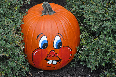 Photograph - My Painted Pumpkin by Teresa Blanton