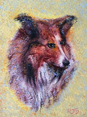 Painting - My Pal Shelty by Richard James Digance