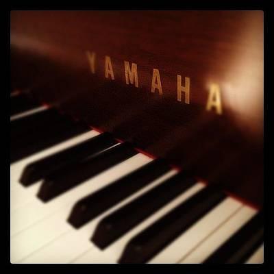 Piano Photograph - My Piano #piano #yamaha by Cheri Karafa
