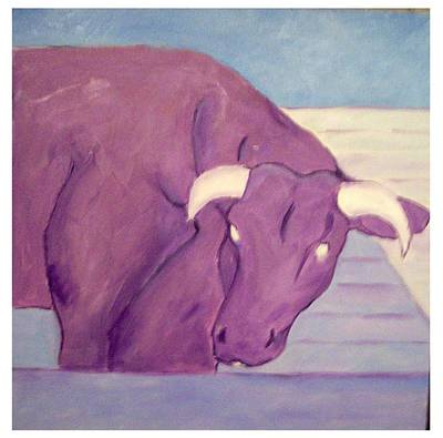 Painting - My Purple Cow by Sue Prideaux