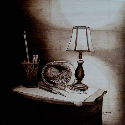 Pyrography Pyrography - My Quiet Time by Jo Schwartz