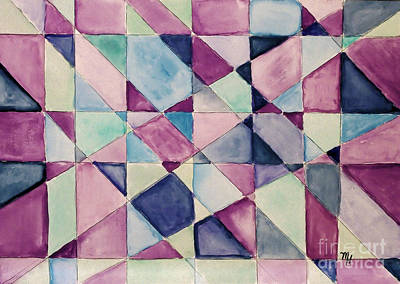 Abstract Quilt Painting - My Quilt by Marsha Heiken