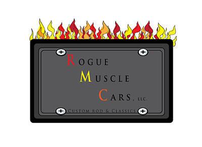 Digital Art - My Rogue Muscle Car Logo by Teri Schuster