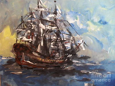 My Ship Art Print by Laurie L