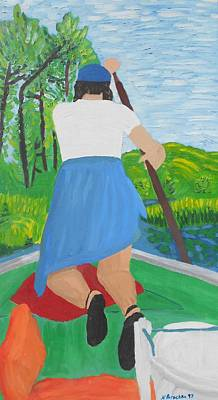Painting - My Sister At The Cabin by Natalee Parochka